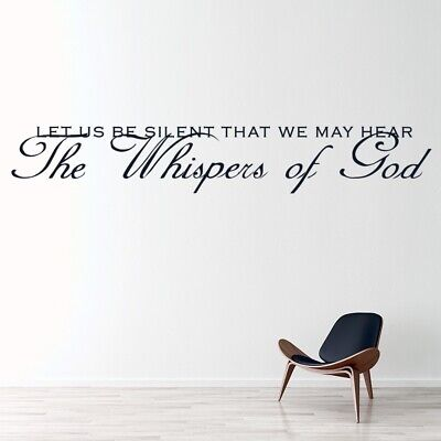 The Whispers Of God Christian Quote Wall Sticker WS-15129 • 10.99£