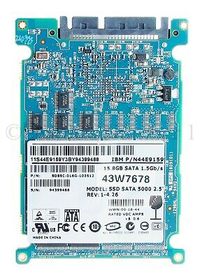 """$ CDN78.19 • Buy Lot Of 10 IBM SSD SATA Drive 5000 2.5"""" 43W7678 15.8GB 1.5Gb/s N44E9159 Solid"""