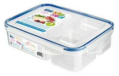 Klip Seal 3 Compartment Split Plastic Food Lunch Storage Box Container BPA Free • 5.30£