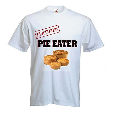 CERTIFIED PIE EATER T-SHIRT - Wigan Lancashire Rugby Athletic - Sizes S To XXXL • 11.99£