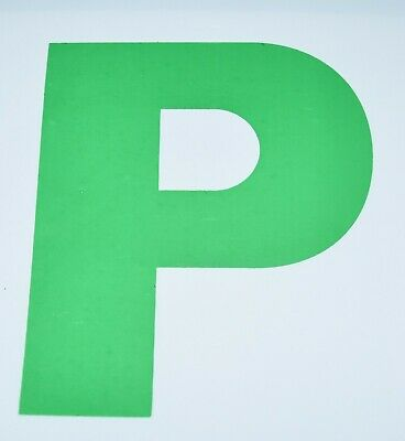 Fully Magnetic P Plates - Green, Pack Of 2 • 1.99£