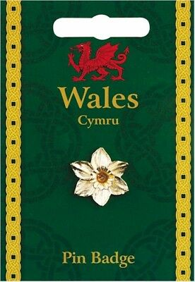 Wales Daffodil Gold Plated Lapel Pin Badge • 5.99£