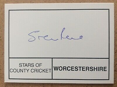 £4 • Buy Cricket - Steven Rhodes - Worcestershire - Hand Signed / Autographed Card