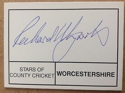 £4 • Buy Cricket - Richard Illingworth - Worcestershire - Hand Signed / Autographed Card