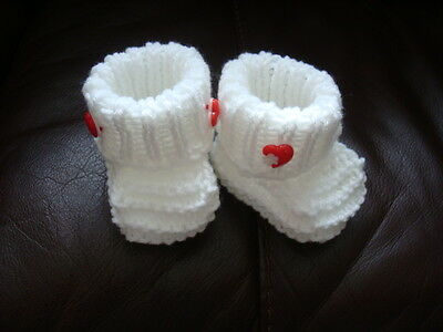 Hand Knitted Baby Shoes , Booties  Sole 3  • 2.99£