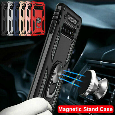 $ CDN5.10 • Buy Magnetic Ring Holder Armor Case For Samsung Galaxy S10 S9 S8 Plus/A7 2018 Cover