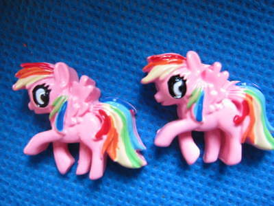 5 X 31MM PINK MY LITTLE PONY FLAT BACK RESIN HEADBAND HAIR BOWS CARD MAKING SALE • 1.49£