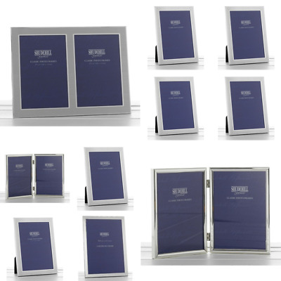 £8.99 • Buy Plain Satin Silver Photo Picture Frame Certificate Home Decorations Gifts