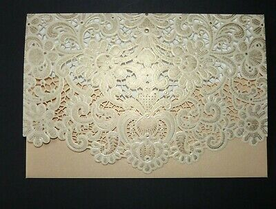 Lace Effect Cut Gift Money Vouchers Wallet Cards Envelope For Wedding Birthday • 2.75£
