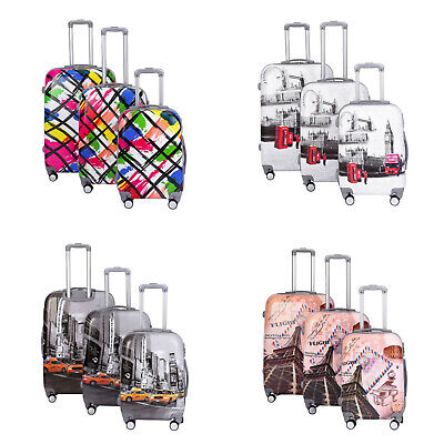 Hard Shell Cabin Suitcase 4 Wheel Luggage Trolley Case Lightweight Ryanair Bag • 79.99£