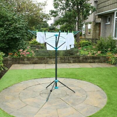 3 Arm Rotary Airer Dryer 16m Washing Line Clothes Garden Outdoor Camping Airer • 27.89£