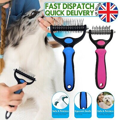 Professional Pet Dog Cat Comb Brush Grooming Undercoat Rake Comb Dematting Tool • 7.99£