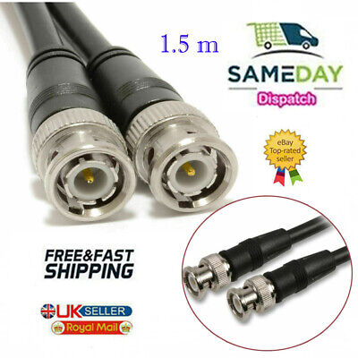 £1.78 • Buy 1.5m BNC Patch Leads High Quality RG59 For CCTV Cameras To DVR Video Cable