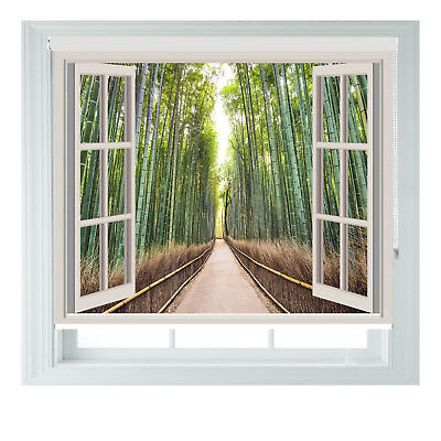 Window Japan Bamboo Forest Printed Photo Blackout Roller Blinds Made To Measure  • 65£