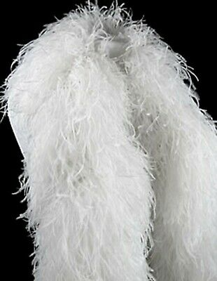 £130.37 • Buy 8 Ply OSTRICH FEATHER BOA - WHITE 2 Yards; Costumes/Hats/Craft/Bridal/Trim 72