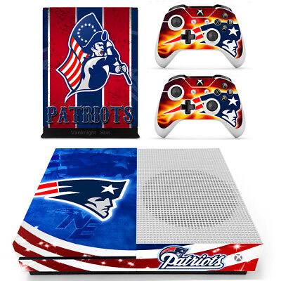$10.60 • Buy Xbox One S Slim NFL New England Patriots Vinyl Skin Decals Stickers Console