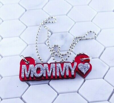 £10.14 • Buy Name Necklace Acrylic Personalized - Sparkle Letters - FREE Shipping, Any Colors
