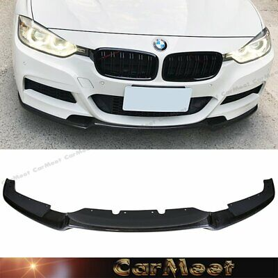 AU495.21 • Buy Carbon Fiber Front Lip GA Look For 12-19 F30 F31 3-SERIES Factory M-Sport Bumper
