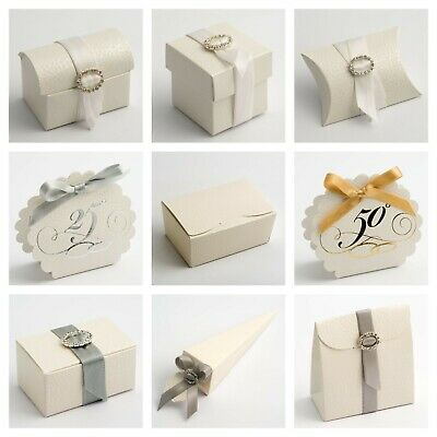 £1.59 • Buy Pelle Off White Wedding Favour Box And Ballotin Wax Melt Party Gift Box Only
