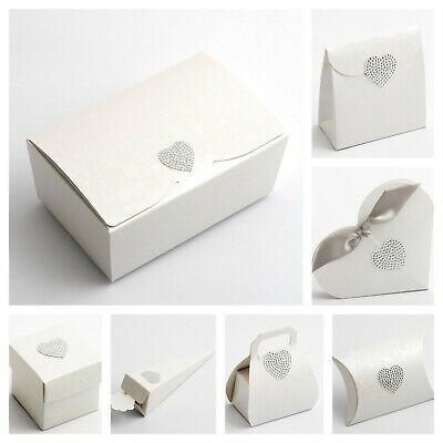 £1.59 • Buy Sphere Pearl White Wedding Favour Boxes And Ballotins Party Wax Melt Boxes Only