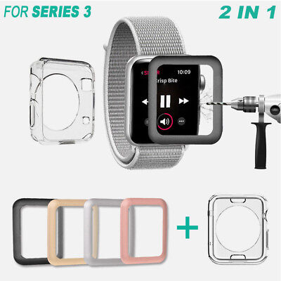 $ CDN2.69 • Buy Apple Watch Series 3 38/42mm Tempered Glass Screen Protector+Soft TPU Case CP
