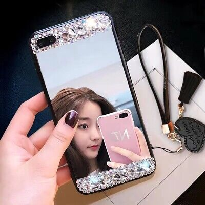 AU7.35 • Buy For Various Phone Luxurious Glitter Diamond Makeup Mirror Jewelry Case Cover