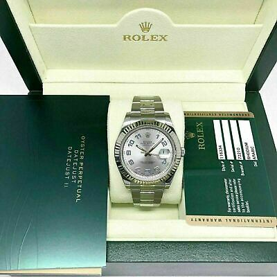 $ CDN11041.82 • Buy Rolex 41MM Datejust 2 Watch 18K Fluted Bezel Stainless Steel Ref 116334 Box Card
