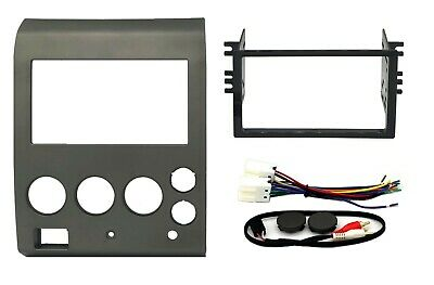 $31.99 • Buy Radio Stereo Mount Install Double Din Dash Kit Bezel Wire Harness Fits Nissan