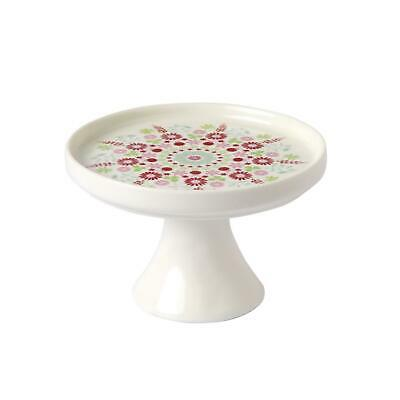 IHR Lily White And Pink Porcelain Mini Cake Stand Home Baking Display Gift Idea • 12.99£