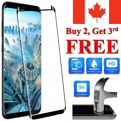 $ CDN5.95 • Buy Curved Tempered Glass Screen Protector Cover For Samsung S20 S10e S9 S8 Plus A5