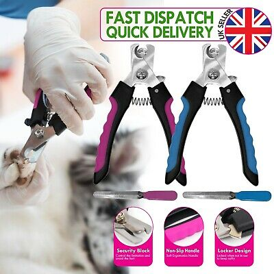 Pet Dog Cat Nail Paw Claw Clippers Scissors Trimmer, Pet Grooming Nail File Kit • 5.99£