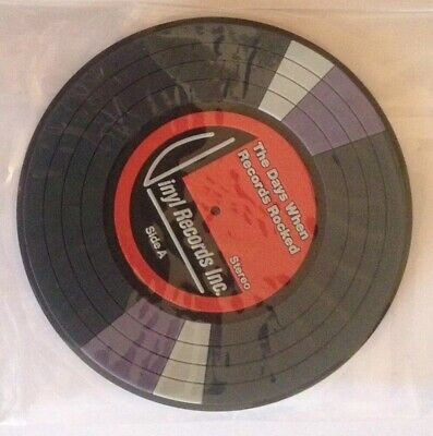 A Brand New Vinyl Record Design PVC Coaster • 1.25£