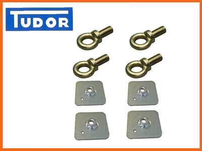 Seat Belt Harness Eye Bolts + Backing Mounting Plates 7/16 Thread UNF X4 • 11.65£