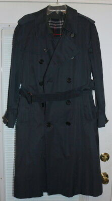 $339 • Buy Vintage BURBERRY Trench Coat Mens Blue Raincoat Burberrys' Of London W/Lining
