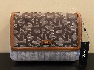 £69.95 • Buy DKNY Genuine Tan Chino Camel Monogrammed Town & Country Clutch Shoulder Bag