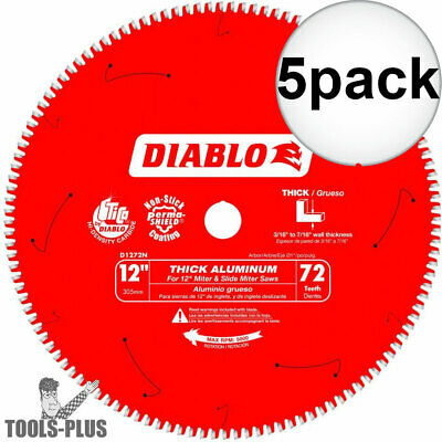 Diablo D1272N Thick Aluminum Cutting Saw Blade 12  X 72 Tooth 5x New • 272.04$
