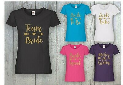 £8.99 • Buy Hen Party T Shirts Hen Do Bride To Be Tribe Tops Custom Personalised #gold