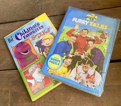 2 New DVDS The Wiggles Furry Tales And Children's Favorites W Barney Kipper Plus • 8.99$