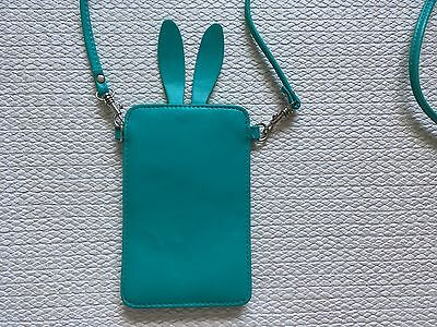 BRAND NEW Urban Outfitters IPhone 5/5S/SE Green Bunny Ears Phone Pouch Bag/Case • 7.99£