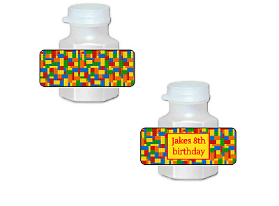 $3.75 • Buy 30 LEGO Birthday Party Favor Bubble Labels