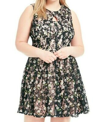 c81678ee431 Gabby Skye Keyhole Sleeveless Floral Print Fit And Flare Dress Size 18W •  13.50