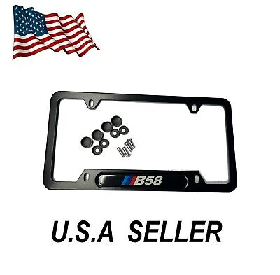 $25 • Buy Powered By M Licensee Plate Frame  ( QTY 2) Black