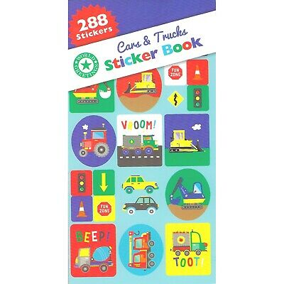 AU2.49 • Buy Cars Trucks Tractor Sticker Book 12 Sheets 288 Stickers Construction Party