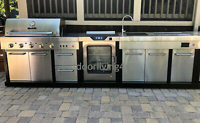 $4121.65 • Buy Ultimate Outdoor Kitchen W/ SMOKER, GRILL, SINK, GRANITE + More!
