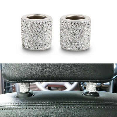 $25.95 • Buy Car Interior Crystal Accessories For Women Car Charms Headrest Collars 2-10Pcs