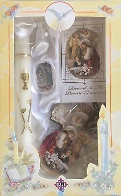 New First Holy Communion Candle Box Gift Set For Boys English Missal Rosary  • 19.29£