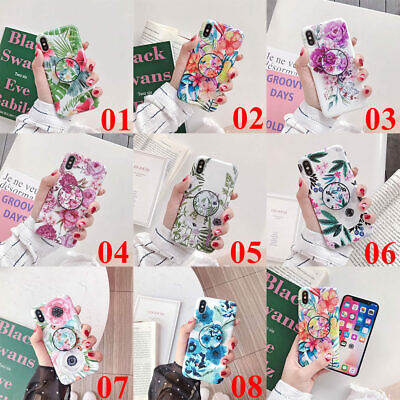 AU6.78 • Buy For IPhone 11 Pro Max XS XR 7 8 Plus Flower Leaf Holder Stand TPU Case Cover