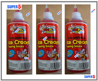 2 X Strawberry Ice Cream Dessert Syrup Sauce 660g MR REALLY GOOD- Waffle,pancake • 8.99£