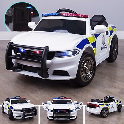 RiiRoo Police Pursuit 12V Electric Ride On Car With 2.4G Remote Control & Music • 129£
