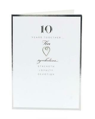 £4.29 • Buy 10th Anniversary Card - Tin 10 Years Together